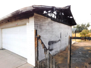 Residential Fire Garage Roof